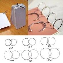 цена на 10pcs Metal Binder Ring Loose Leaf Book Binder Hoop Ring Multifunctional Keychain Circle Book Binder Hoop Office Binding Supply