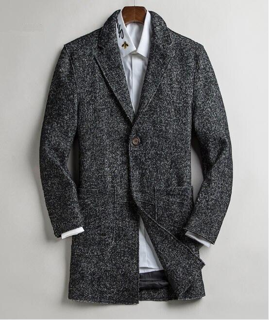 ウールブレザー男性スリムファッション春メンズウールブレザー男性カジュアルスーツのジャケットウォーム 4 色ビジネスコート A5115  グループ上の メンズ服 からの ブレザー の中 1