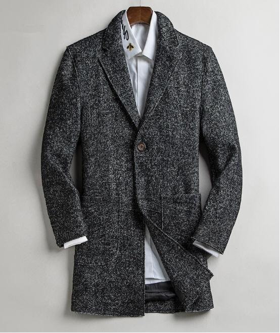 ผ้าขนสัตว์ Blazer สำหรับ Men Slim แฟชั่นผู้ชายฤดูใบไม้ผลิขนสัตว์ Blazer ชายเสื้อสูทอบอุ่น 4 สีธุรกิจเสื้อ A5115-ใน เสื้อเบลเซอร์ จาก เสื้อผ้าผู้ชาย บน   1