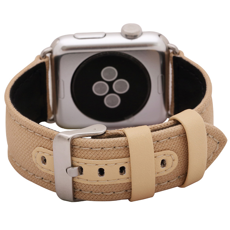 FOHUAS Series 2 1 Genuine Leather Loop For Apple Watch Band Nylon strap 42mm For Apple Watch leather strap 38mm bracelet women цена