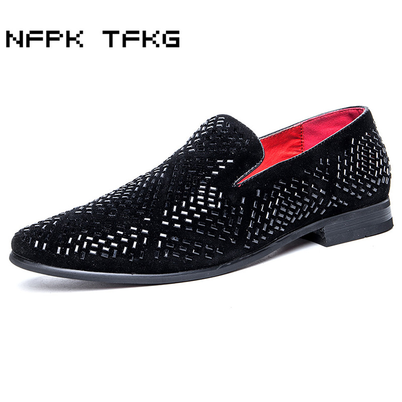big size men's casual breathable wedding party dress cow suede leather rhinestone shoes slip on lazy driving shoe summer loafers pl us size 38 47 handmade genuine leather mens shoes casual men loafers fashion breathable driving shoes slip on moccasins