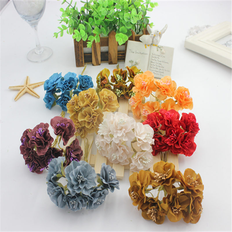 6pcs 3 cm silk flowers withered leaves flower wreath accessories 6pcs 3 cm silk flowers withered leaves flower wreath accessories manual materials wholesale a bunch of wholesale mightylinksfo