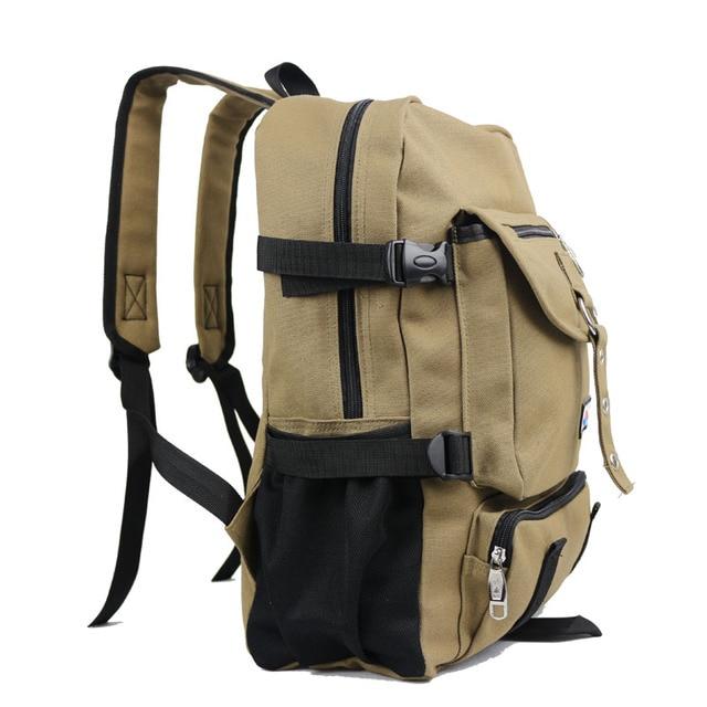 New Fashion arcuate shouider strap zipper solid casual bag male backpack school bag canvas bag designer backpacks for men 1