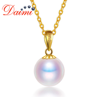 DAIMI 8 8.5mm Round Pearl Akoya Pearl 18K Gold Pendant Fine Jewelry