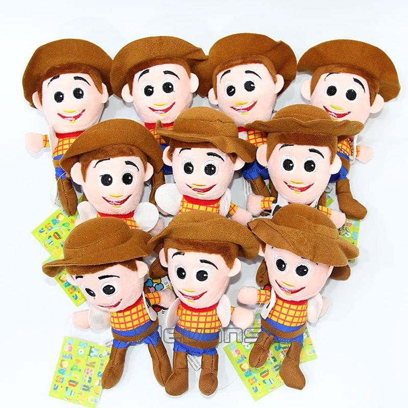 Toy Story Woody Buzz Lightyear Mini Plush Pendant Toys Soft Stuffed Animal Dolls 10pcs/lot 2 Styles