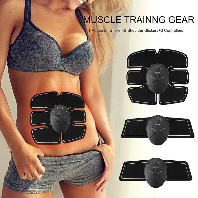 Image 2 - EMS Wireless Muscle Stimulator Smart Fitness Abdominal Training Electric Weight Loss Stickers Body Slimming Belt UnisexAbdominal Massage Instrument   -