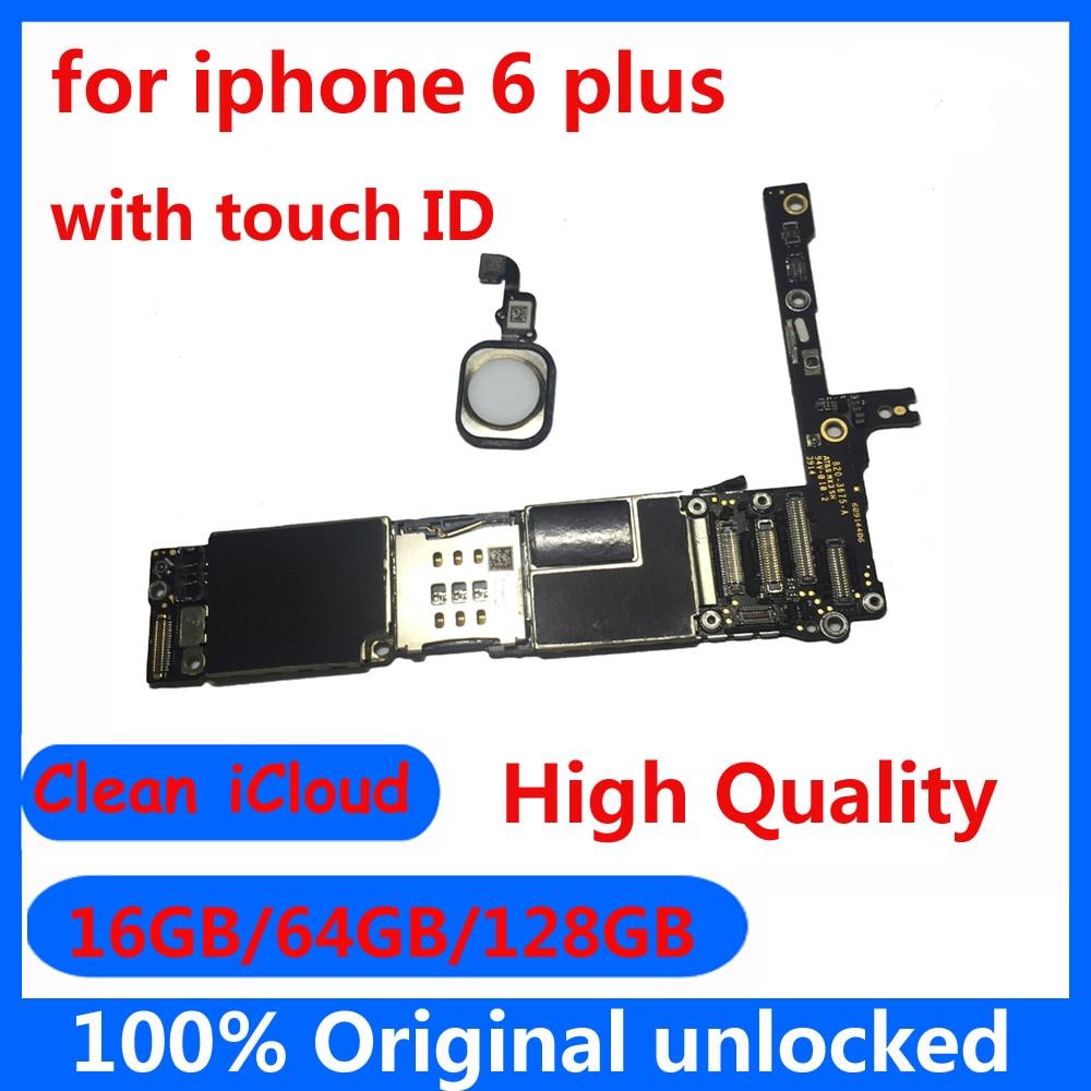 Материнская плата для iphone 6 plus, 16 ГБ, 64 ГБ, 128 ГБ, чистая материнская плата для iphone 6 plus, 6 p с чипами icloud, материнская плата с/без touch ID|Антенны для мобильных телефонов| | АлиЭкспресс