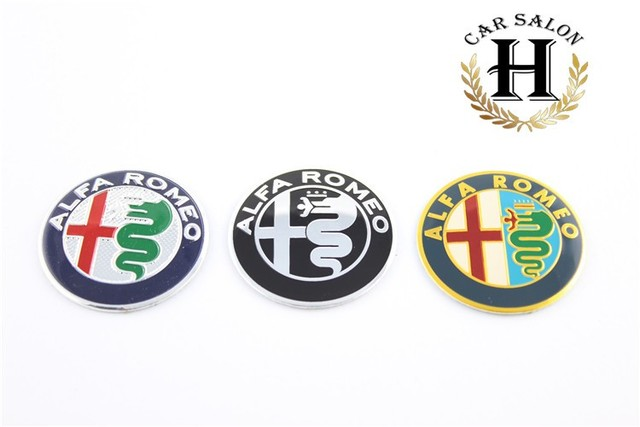 4pcs 5 0cm 50mm Black Alfa Romeo Gt Car Tyre Emblem Badge Decal Fit For Wheel Center Hub Cap Sticker Free Shipping