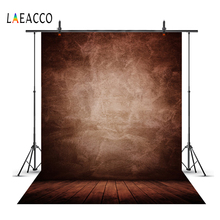 Laeacco Dark Gradient Solid Color Wall Wooden Floor Baby Newborn Portrait Photography Backgrounds Photocall Photo Backdrops