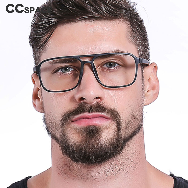 45844 TR90 Retro Square Glasses Frames Men Women Optical Fashion Computer Glasses