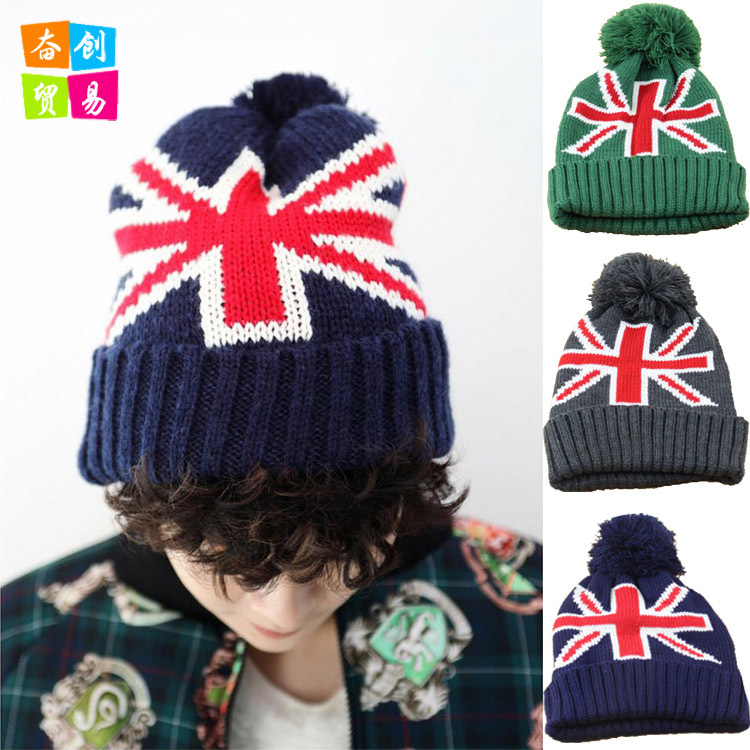 Autumn and winter hats wholesale more British knitting warm hat lovers wool hat lady the new children s cubs hat qiu dong with cartoon animals knitting wool cap and pile
