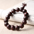 Siam Rosewood Buddha Prayer Beads Bracelet  Wooden Tibetan Buddhist Mala Buddha Rosary Bangle Jewelry