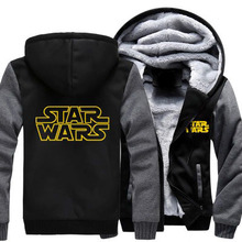 2016 New Winter Heat Hoodie Star Wars Jacket Coat Sizzling Flim The Power Awakens Cosplay Costumes Thick Zipper Sweatshirt