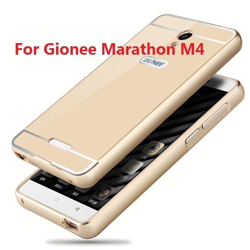 Free Shipping Colourful Alunminum Hard PC Metal Frame Rim Bounding Box for Gionee Marathon M4 Mobile