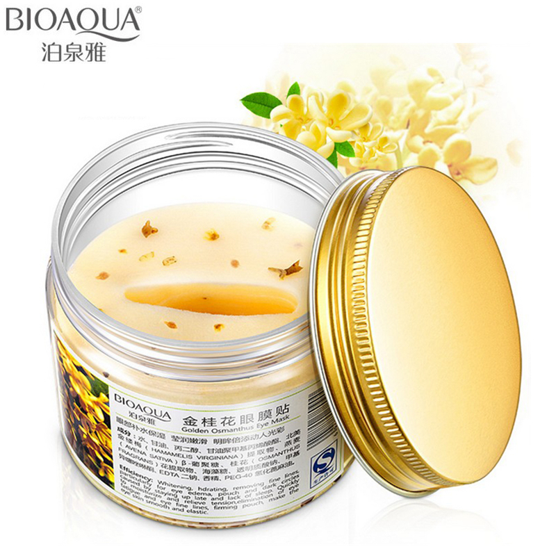 BIOAQUA Eye Skin Care Golden Osmanthus Collagen Eye Mask Anti-Puffiness Dark Circle Moisturizing Relax Patches Eyemask 80pcs/lot