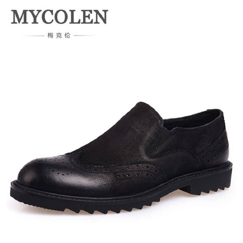 MYCOLEN 2017 New Men Shoes Luxury Brand Moccasin Leather Casual Driving Oxfords Shoes Business Men Loafers sapatos homens branded men s penny loafes casual men s full grain leather emboss crocodile boat shoes slip on breathable moccasin driving shoes