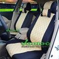 Veeleo (pode fazer o Logotipo) + (Frente + Traseira) Carro Universal Capas Para HONDA Civic CRV Fit Accord Elemento Libertou A Vida Com Material De Seda 3D