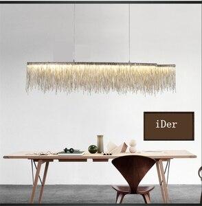 Image 5 - Modern designer decorative chandelier Nordic tassel restaurant luxury hotel engineering chain living room art lighting