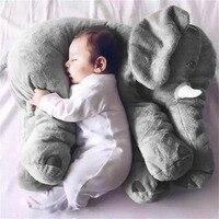 Stuffed Animal Cushion Kids Baby Sleeping Soft 50 60cm Pillow Toy Cute Elephant Shape Cotton Doll