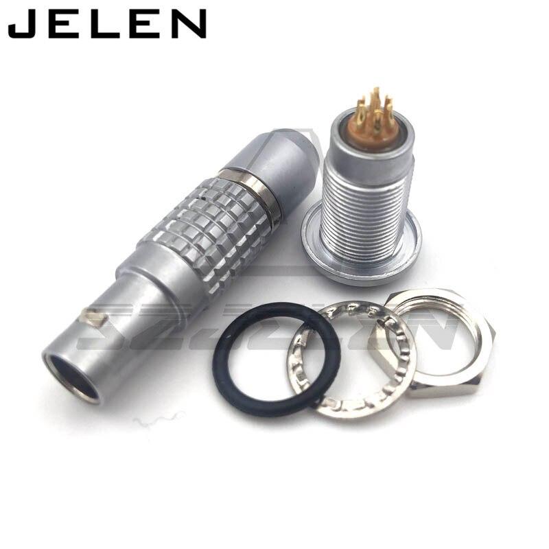 compatible LEMO connectors FGG.0B.307,HGG.0B.307.CLL   sealed waterproof socket 7 pin circular connector plug and socket 983 6k14 07s8 l [ circular mil spec connectors 983 7c 7 16 skt plug] mr li