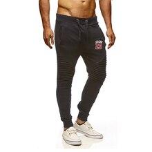 Брюки мужские повседневные брюки для пробежек, спортивные фитнес мужские тренировочные брюки с принтом логотипа Брендовые мужские штаны Зимние хлопковые штаны, брюки-карандаш