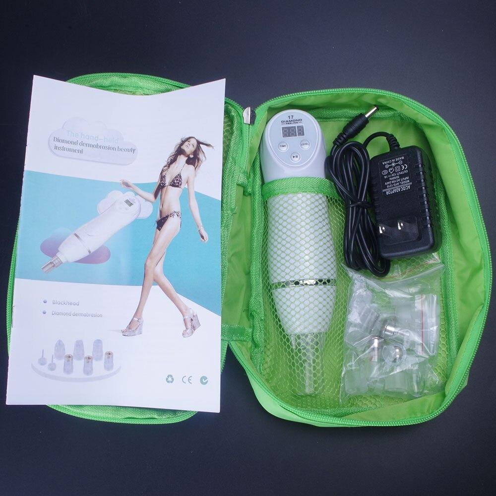 Günstige 6 Tipps Mitesser Vakuum Saug Entferner Maschine Mini Diamant 17 Dermabrasion Haut Peeling Schönheit Maschine Digitale Vakuum