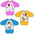 3 unids/lote bebé baberos paños para el eructo de dibujos animados animal bebé vestir ropa anti apósito Cultivan arroz batas impermeables Bebé Paños