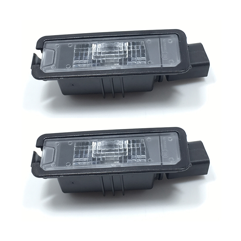 2Pcs License Plate Light For VW Golf MK6 MK7 Passat B7  Scirocco Beetle Polo Leon  35D 943 021  1K8 943 021 for vw passat b7 cc golf mk7 license plate light with plug connector 35d 943 021 a