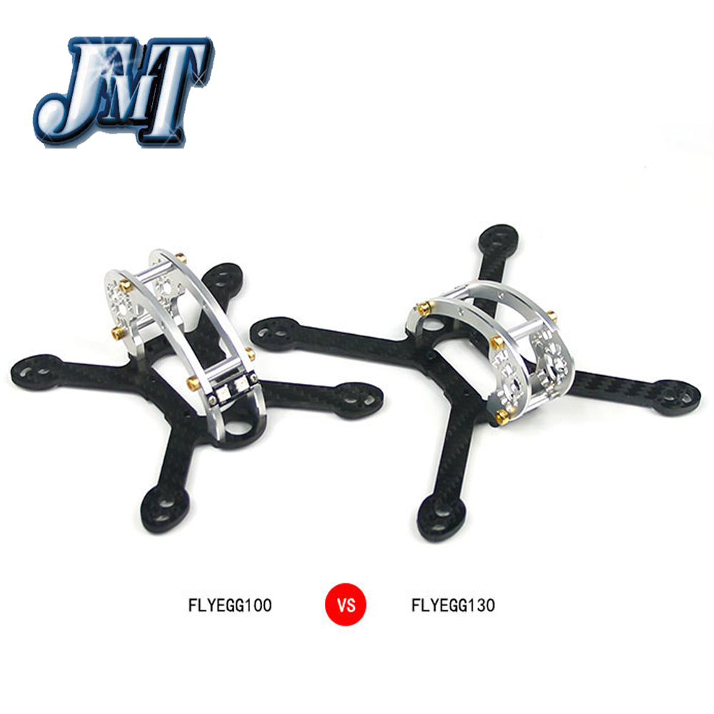 JMT New Arrival Flyegg 100 / 130 Kit Body Frame with 7075 Aluminum for KingKong Mini FPV RC Racing 100mm 130mm Drone Quadcopter jmt kingkong et100 rtf brushless fpv rc racing drone with flysky fs i6 6ch 2 4g transmitter radio system mini quadcopter