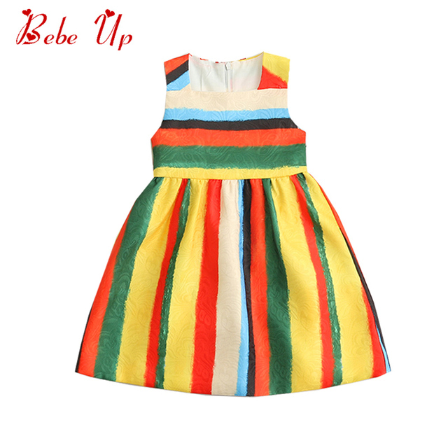 1c7d08cdc Toddler Girl Stripe Dress Sleeveless Princess Dress For Kids Girl ...