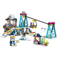 Compatible with legoingly 41324 Models building toy 37028 632pcs Girl Friends Snow Resort Ski Lift Building Blocks toys
