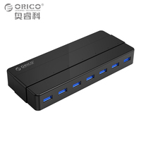ORICO 7 Port USB3 0 Desktop HUB 5 Gbps SuperSpeed With 12V2 5A Power Adapter VIA