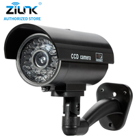 Dummy Fake Bullet Camera Outdoor Indoor Security CCTV Surveillance Waterproof Camera Flashing Red LED Free Shipping