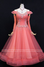 Ballroom Dance Dresses For Women Hot Pink Stage Tango Flamenco Modren Waltz Ballroom Competition Dancing Dress
