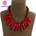 Free Shipping!Wonderful Red Natural Coral Pendants Necklace Fashion Wedding Bridesmaid Jewelry Party Jewelry CN010