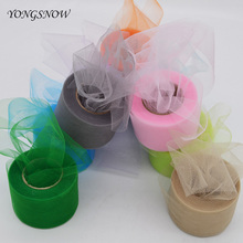 5cm*25m Shiny Tulle Roll Transparent Flash Organza Spool DIY Crafts Wedding Birthday Party Decoration Gift Wrapping Baby Shower