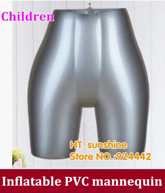 1PCS/LOT Children Underwear shorts lower body Inflatable Mannequin Dummy young model new female 3 4 body inflatable mannequin torso dummy model dress fashion display