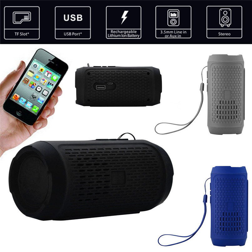 Stereo Sound Portable Wireless Bluetooth Speaker Bar TF FM Radio Subwoofer Column Speakers for Computer Phones 40AP01