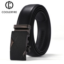 Automatic buckle Men genuine leather belt dressing belts for men high quality classic strap ZD084