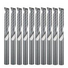 10 stücke 4x22mm Einzel Flöte Bit Hartmetall schaftfräser Set, CNC Router Fräser für Holz Cutter Fräsen