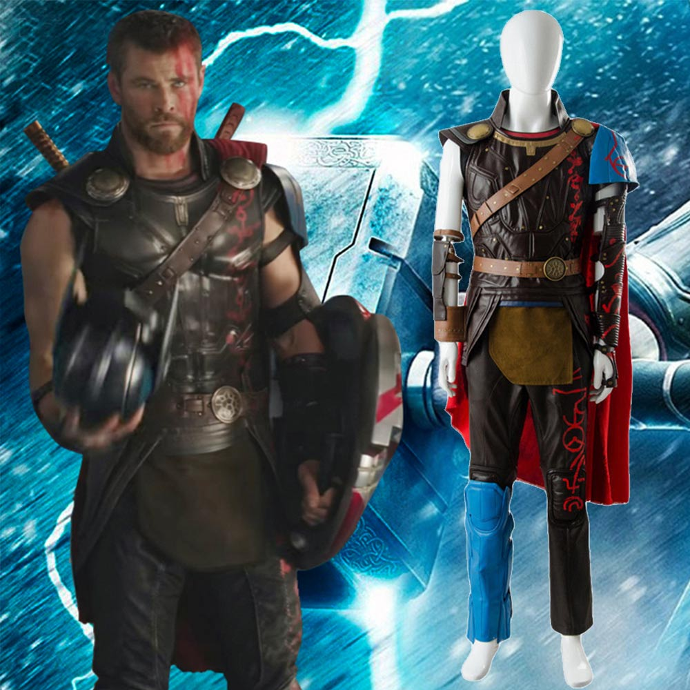 Loki Costume The Avengers Thor 3 Costume Ragnarok Arena Gladiator Cosplay Costume Battle Suit