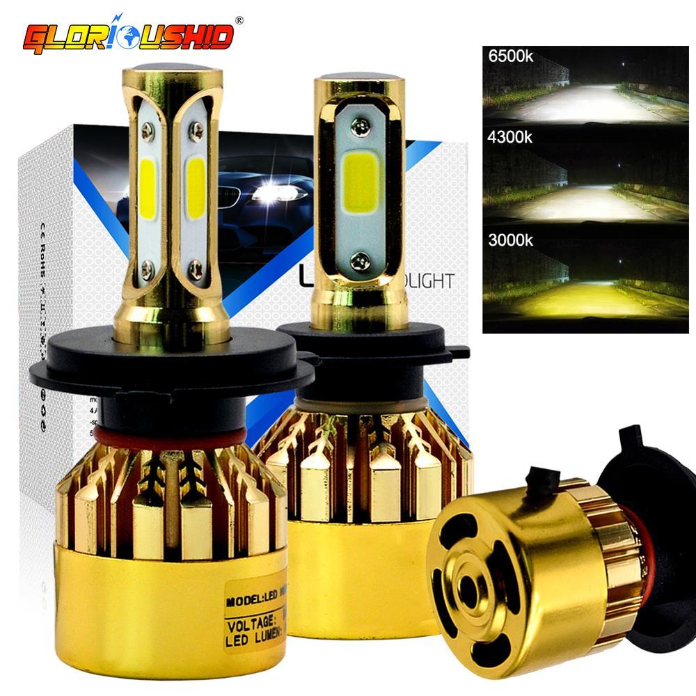 2шт H11 LED H7 H4 H1 Автомобильные фары H3 HB4 H8 HB3 H27 9005 9006 881 противотуманные фары 8000LM 3000k 4300k 6500k светодиодный свет