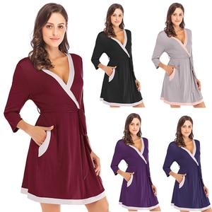 Image 5 - Халат кимоно Женский из мягкой модала, ночная рубашка юката, пижама, лето 2020