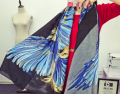 185*110cm New Design Phoenix Pattern Woman Shawls And Scarves Feather Wing Print Pashmina Wholesale Accessory