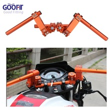 GOOFIT Steering Handle Bar Handlebar Grip for Yamaha BWS125 Honda Ruckus Zoomer NSP50 Motorcycle P038-409 стоимость