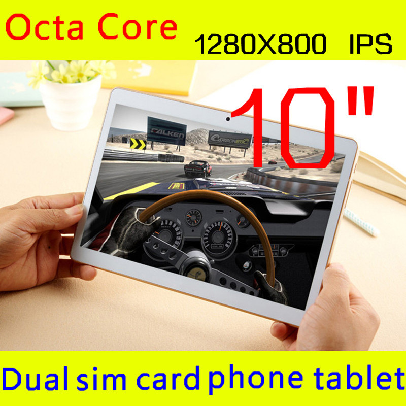 10 inch 3G The Tablet PC Octa Core 4G RAM 64GB ROM Dual SIM Card Android 5.1 Tab GPS bluetooth tablets 10 + Gifts