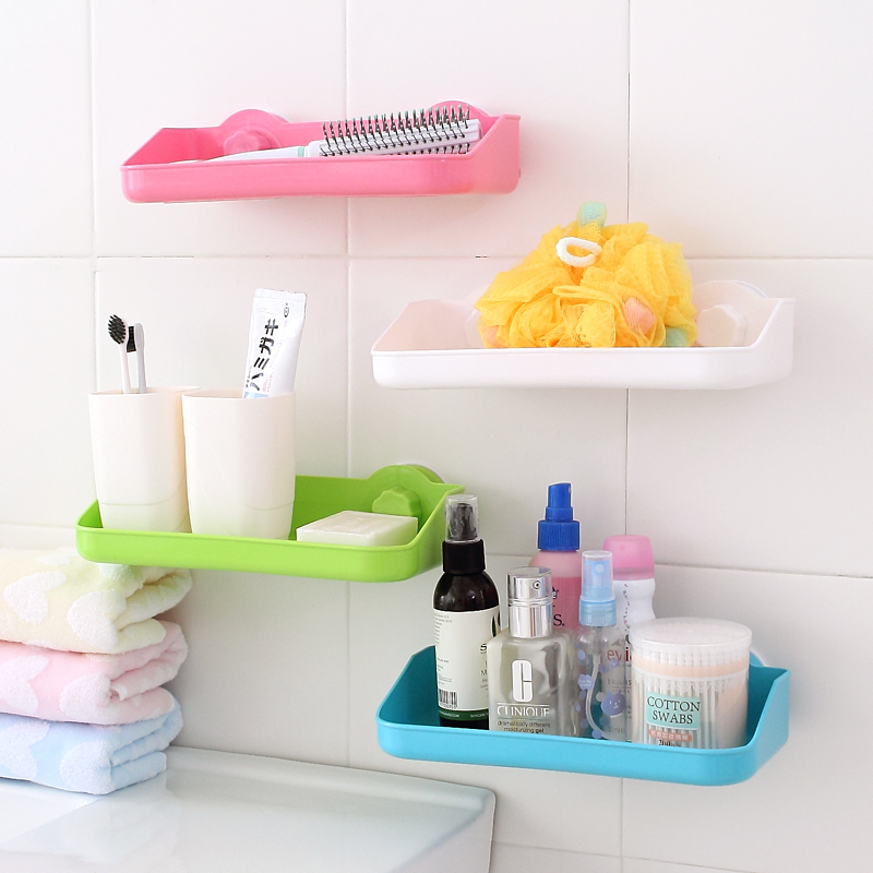 Simple life wall mounted kitchen storage holder bathroom for Bathroom accessories organizer