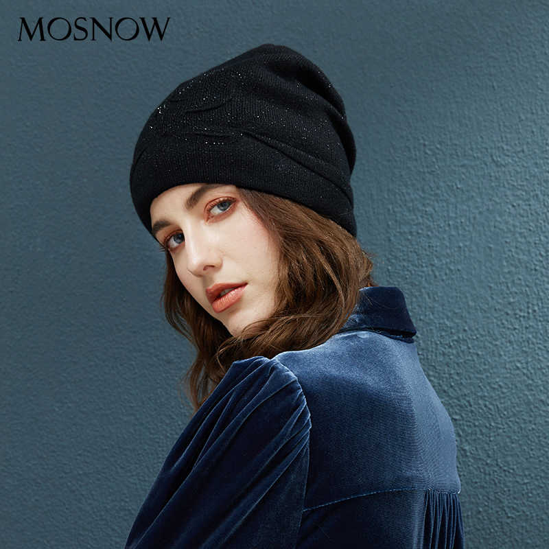 73323986c6 Winter Beanie Flower With Rhinestone Beanies Ladies Knitted Cotton Hat 2018  Fashion Warm Caps Girls Autumn Female Hats For Women