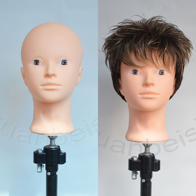 Bald Head Training Head for practice makeup  women Mannequin Head for Wig Hat Display With free stand Hair finishing Wig Stand