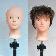 Tête de Mannequin dentraînement de tête chauve pour la pratique du maquillage, présentoir de chapeaux et support perruque pour finition capillaire